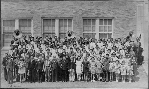 High school and grade school bands in Cimarron, Kansas - Page