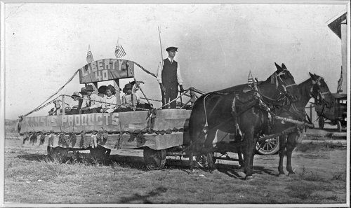 A parade float in Cimarron, Kansas - Page