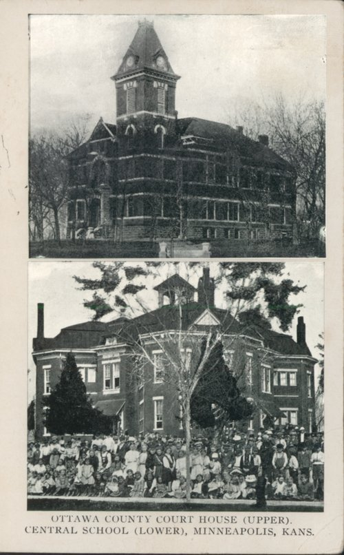 Ottawa County courthouse and Central School in Minneapolis, Kansas - Page