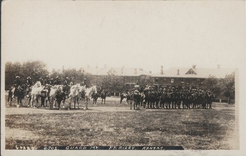 Mounted guard at Fort Riley, Kansas - Page