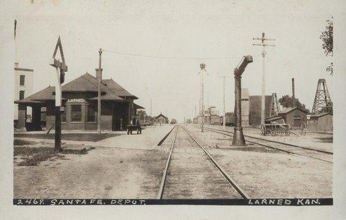 Atchison, Topeka & Santa Fe Railway Company depot, Larned, Kansas - Page