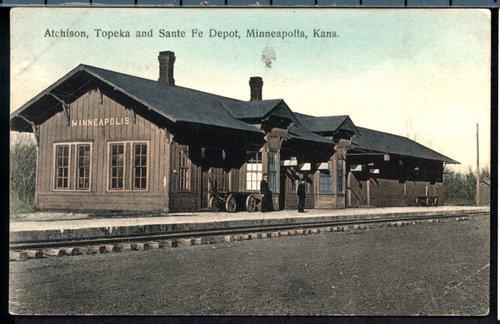 Atchison, Topeka & Santa Fe Railway Company depot, Minneapolis, Kansas - Page