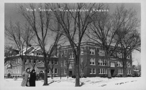 High school in Minneapolis, Kansas - Page