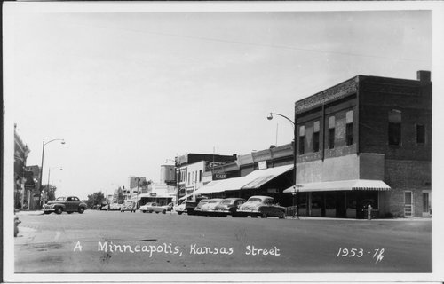 Business street in Minneapolis, Kansas - Page