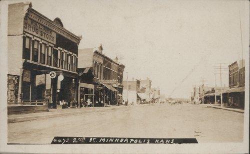 Second Street in Minneapolis, Kansas - Page