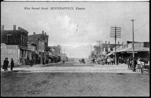 West Second Street in Minneapolis, Kansas - Page