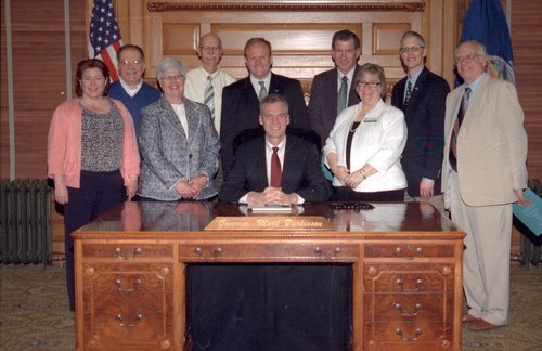 Bill signing ceremony in Governor Mark Parkinson's office, Topeka, Kansas - Page