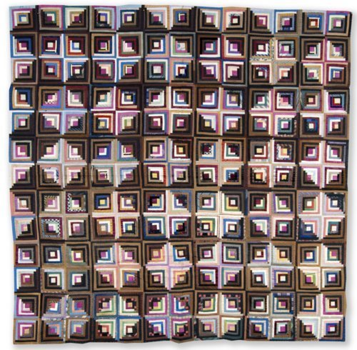 Log Cabin quilt top - Page