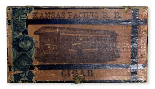 Kansas Pacific Railroad cigar box - Page