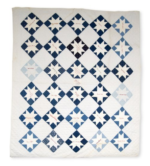 Saw Tooth or Evening Star friendship quilt - Page