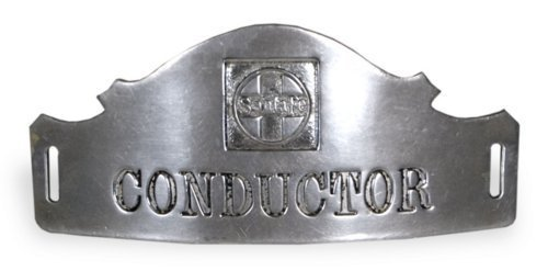 AT & SF Railway conductor's pin - Page
