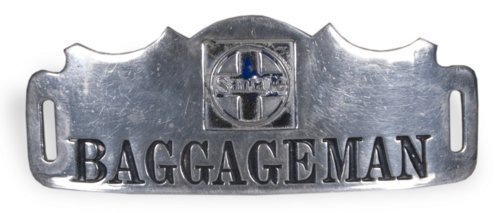 "AT & SF Railway baggageman""s pin - Page"