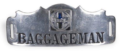 """AT & SF Railway baggageman""""s pin - Page"""