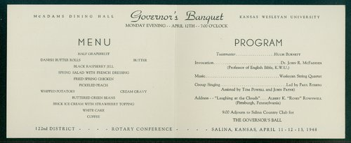 Rotary International governor's banquet program - Page