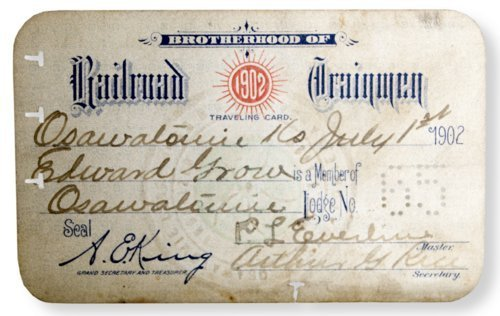 Brotherhood of Railroad Trainmen traveling card - Page
