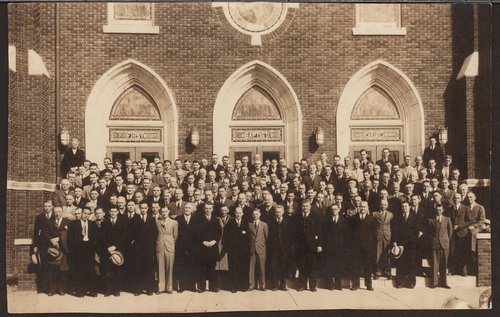 Group of men in front of church - Page