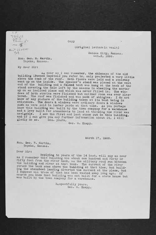 George W. Knapp to George W. Martin - Page
