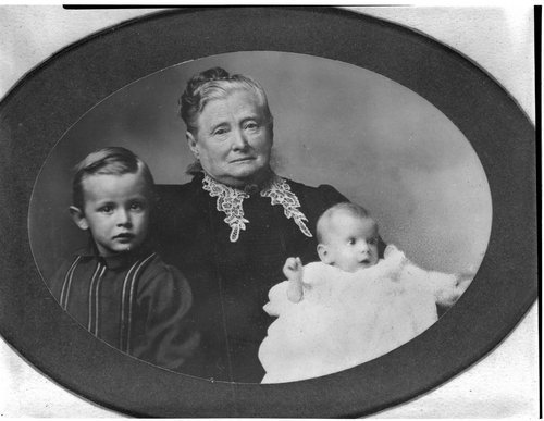 Mary Ann Hatten White with her grandchildren - Page