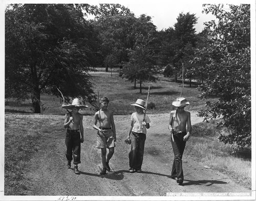 Boys with fishing poles, Topeka, Kansas - Page