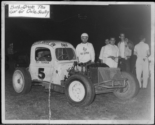 Bud Marsh with a race car - Page