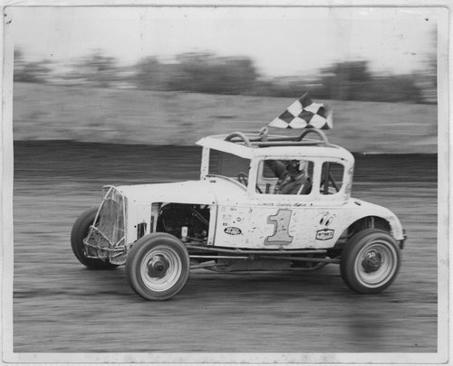 Bud Marsh with race car number 1 - Page