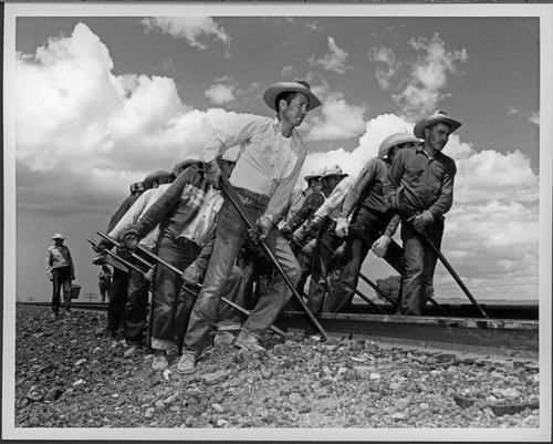 Atchison, Topeka & Santa Fe Railway Company workers, Gallup, New Mexico - Page