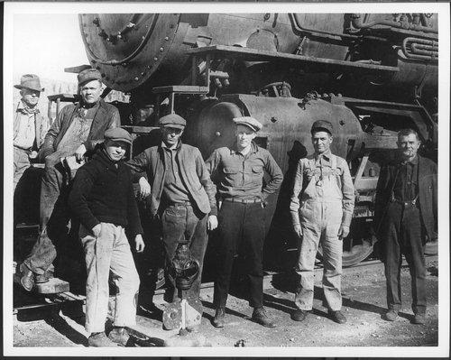 Atchison, Topeka, & Santa Fe Railway Company's train crew, Hurley, New Mexico - Page