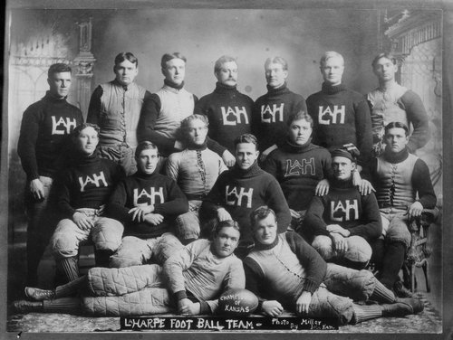 Football team, La Harpe, Kansas - Page