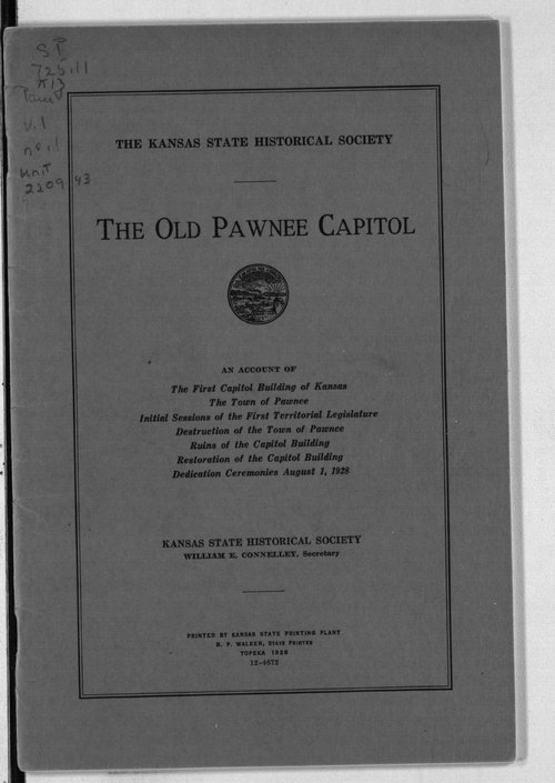 Old Pawnee Capitol - Page