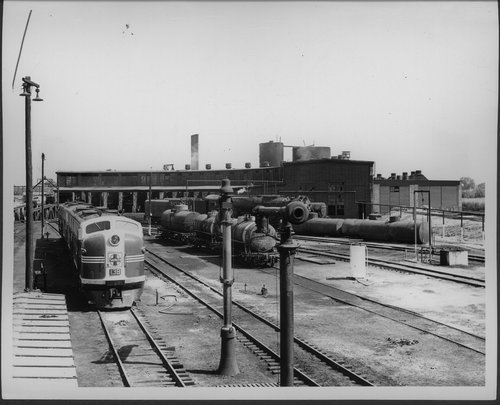 Atchison, Topeka & Santa Fe Railway Company's roundhouse, Belen, New Mexico - Page