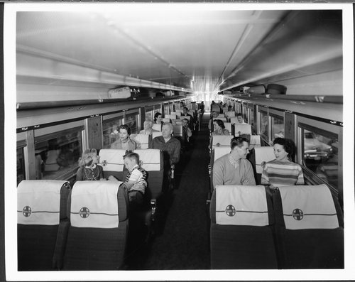 Passengers traveling on the El Capitan - Page