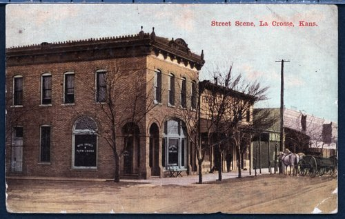 Street scene in La Crosse, Kansas - Page