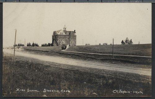 High school in Stockton, Kansas - Page