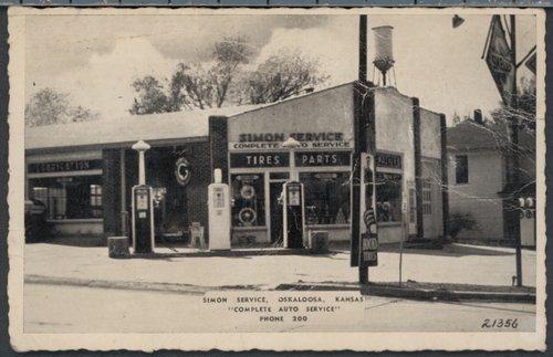 Simon service station in Oskaloosa, Kansas - Page