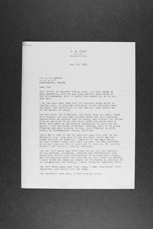 E. P. Lamborn correspondence and research papers