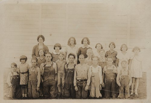 School children and teacher, Brown County, Kansas - Page