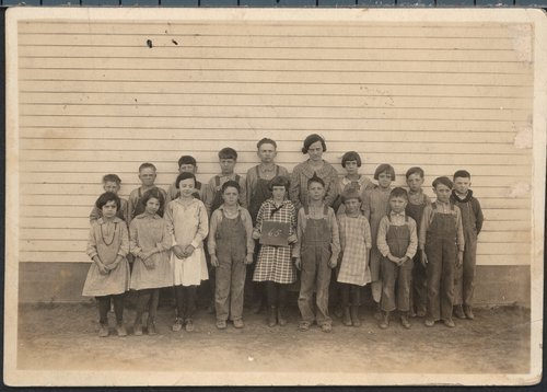 School children and teacher, Doniphan County, Kansas - Page
