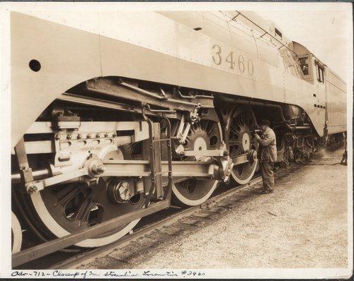 Atchison, Topeka & Santa Fe Railway Company's locomotive #3460 - Page