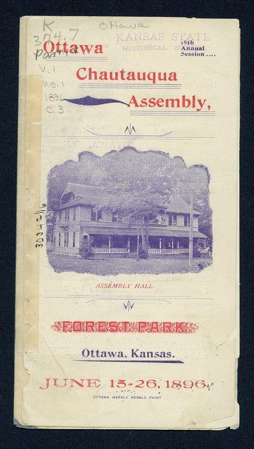 Ottawa Chautauqua Assembly, Forest Park, Ottawa, Kansas - Page