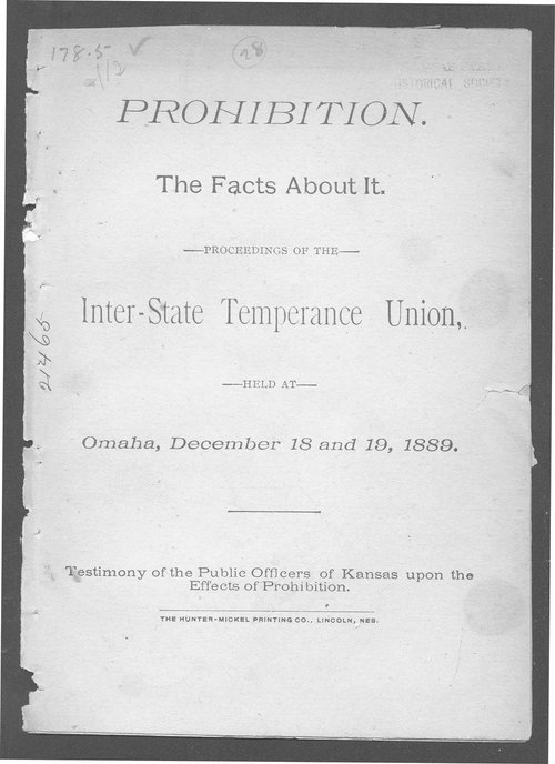 Prohibition.  The facts about it. - Page