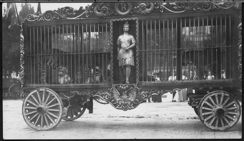 Circus wagon in parade, Iola, Kansas - Page
