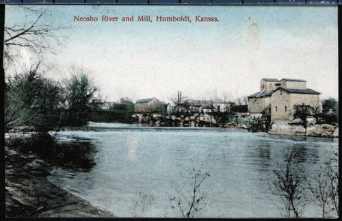 Neosho River and Mill, Humboldt, Kansas - Page