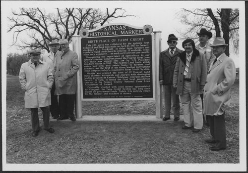 Farm Credit historical marker, Pawnee County - Page