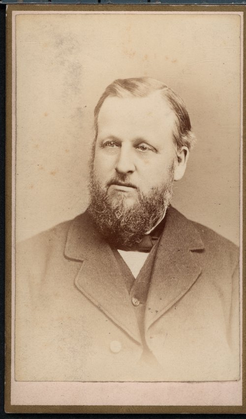 A photograph of Solon Otis Thacher, 1880s