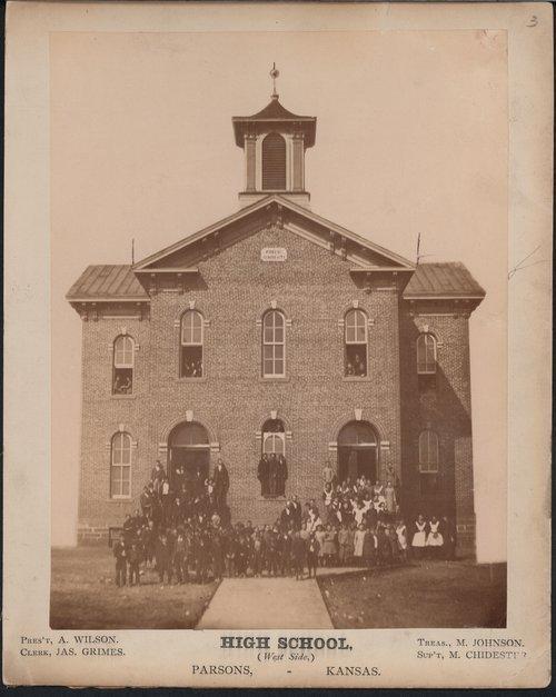 Public school in Parsons, Kansas - Page