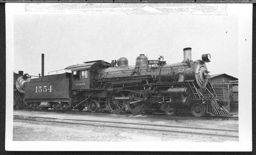 Atchison, Topeka & Santa Fe Railway Company's steam locomotive #1554 - Page