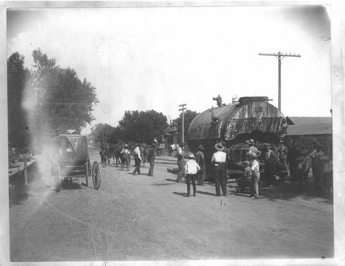Moving a boiler in Larned, Kansas - Page
