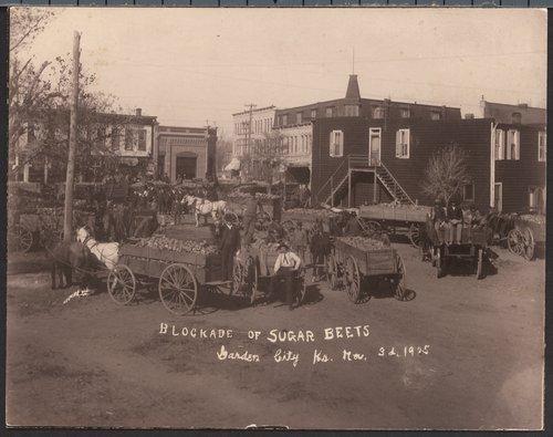 Blockade of sugar beets in  Garden City, Kansas - Page