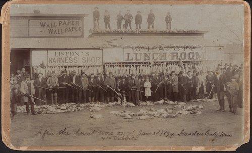 Rabbit hunt in Garden City, Kansas - Page