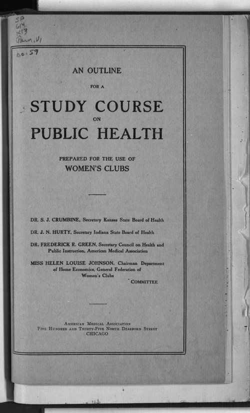 A study course on public health - Page